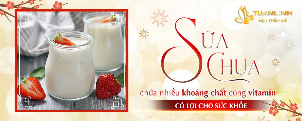 Sữa chua chứa nhiều khoáng chất cùng vitamin có lợi cho sức khỏe