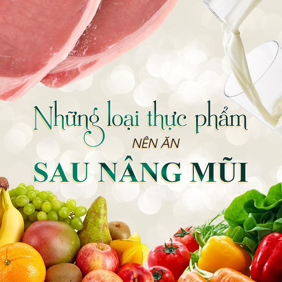 Những loại thực phẩm nên ăn sau nâng mũi   Nâng mũi có ăn rau lang được không?
